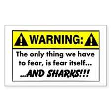 Fear of Sharks - Warning Decal