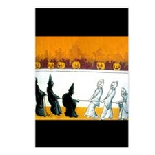 Ghostly Ghouls Postcards (Package of 8)
