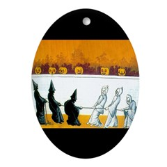 Ghostly Ghouls Ornament (Oval)