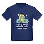 Frog Prince 5th Birthday Kids Dark T-Shirt