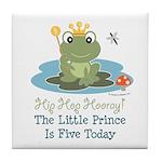 Frog Prince 5th Birthday Tile Coaster
