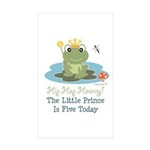 Frog Prince 5th Birthday Sticker (Rectangle 50 pk)