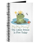 Frog Prince 5th Birthday Journal