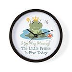 Frog Prince 5th Birthday Wall Clock