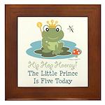 Frog Prince 5th Birthday Framed Tile