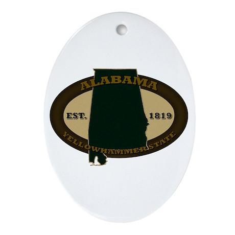 Alabama Est. 1819 Ornament (Oval)