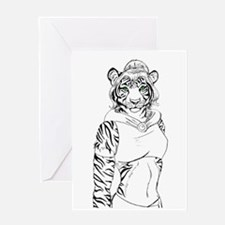 tigress Greeting Cards
