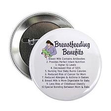 """Breastfeeding Benefits 2.25"""" Button"""