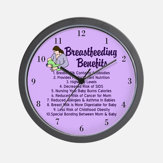 Breastfeeding Benefits Wall Clock
