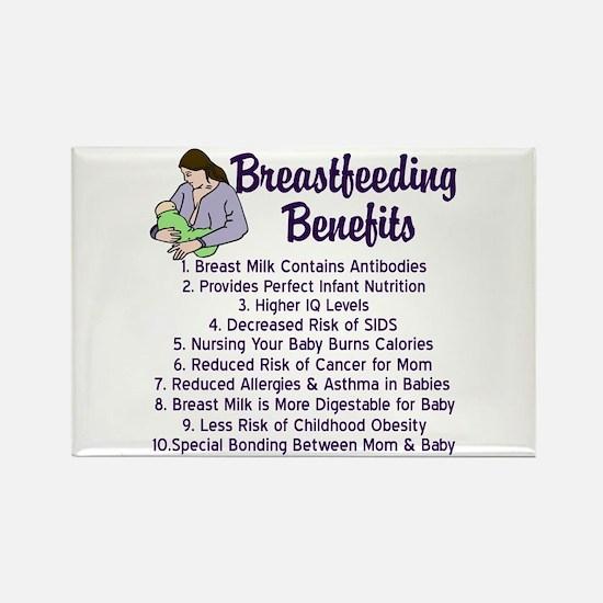 Breastfeeding Benefits Rectangle Magnet