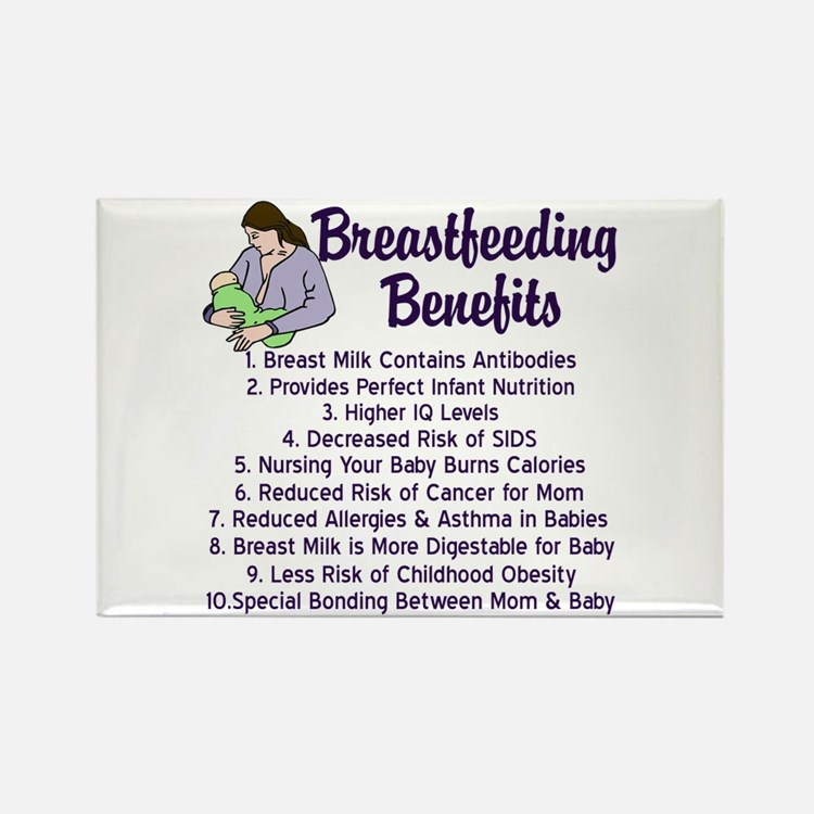 Breastfeeding Benefits Rectangle Magnet