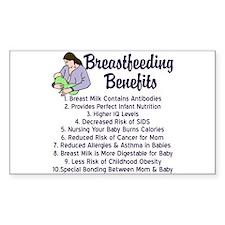 Breastfeeding Benefits Decal