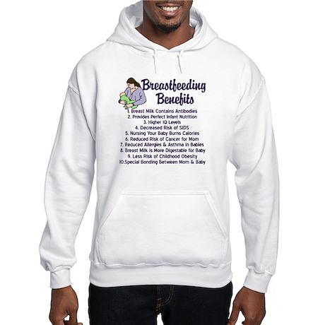 Breastfeeding Benefits Hooded Sweatshirt