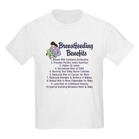 Breastfeeding Benefits Kids Light T-Shirt