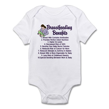 Breastfeeding Benefits Infant Bodysuit