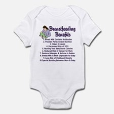 Breastfeeding Benefits Infant Bodysuit