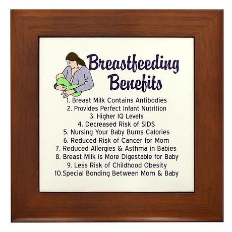 Breastfeeding Benefits Framed Tile