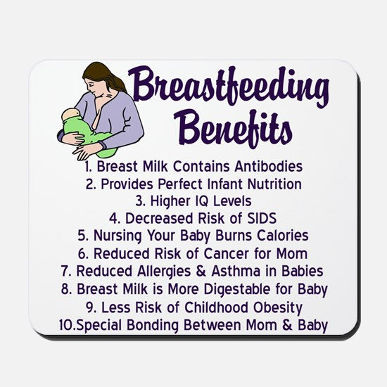 Breastfeeding Benefits Mousepad