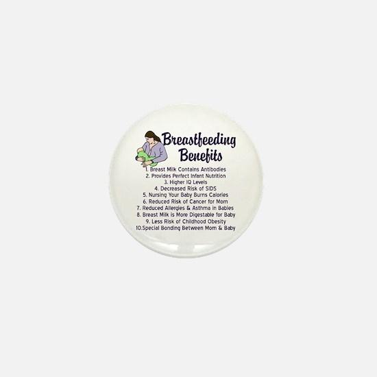 Breastfeeding Benefits Mini Button