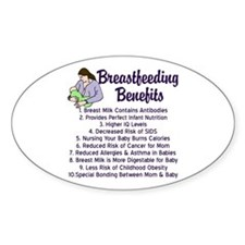 Breastfeeding Benefits Decal