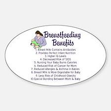 Breastfeeding Benefits Sticker (Oval)