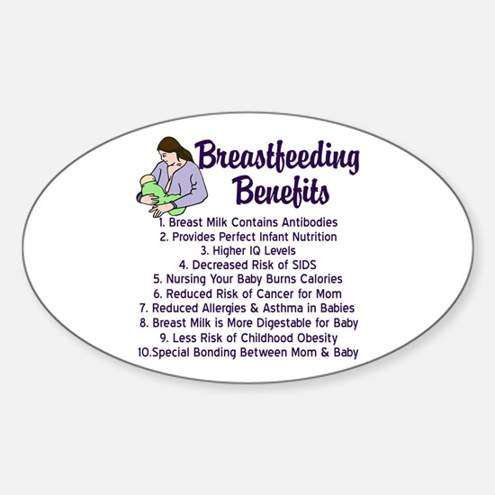 Breastfeeding Benefits Sticker (Oval)