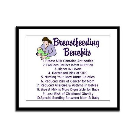Breastfeeding Benefits Framed Panel Print