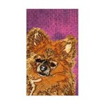 Long Haired Chihuahua Rectangle Sticker