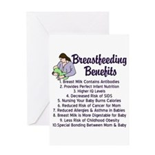 Breastfeeding Benefits Greeting Card