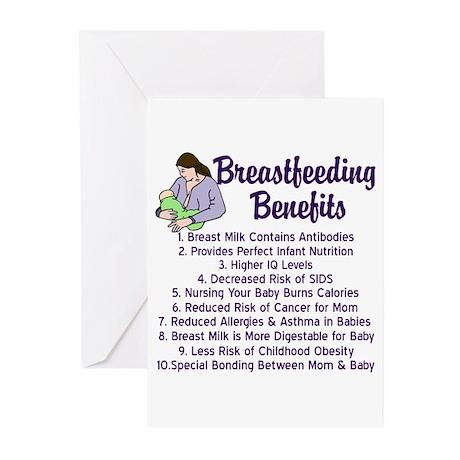 Breastfeeding Benefits Greeting Cards (Pk of 10)