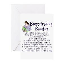 Breastfeeding Benefits Greeting Cards (Pk of 20)