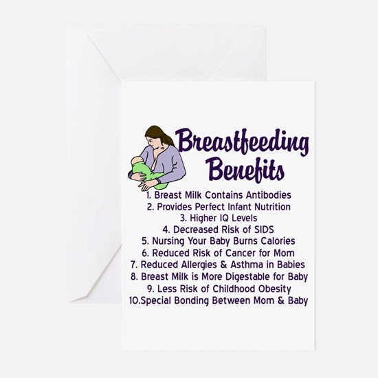 Breastfeeding Benefits Greeting Cards (Pk of 20)