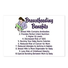 Breastfeeding Benefits Postcards (Package of 8)