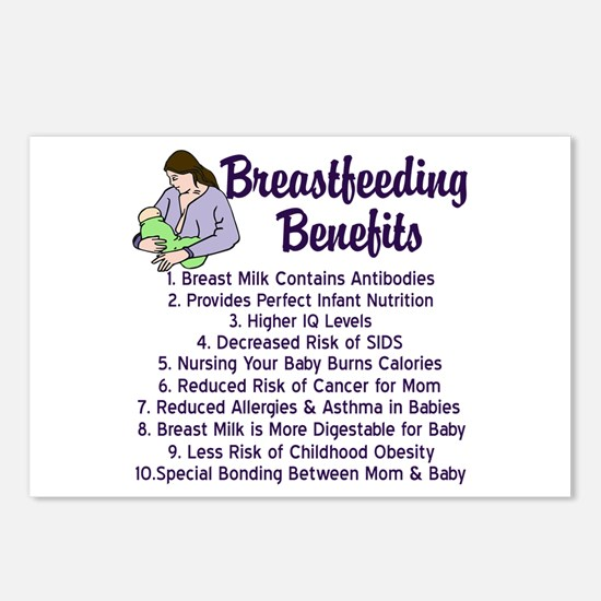 Breastfeeding Benefits Postcards (Package of 8)