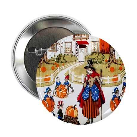"Witches & Elves 2.25"" Button"