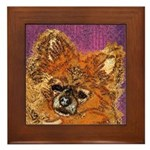 Long Haired Chihuahua Framed Tile