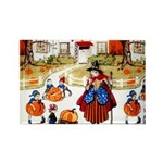 Witches & Elves Rectangle Magnet (100 pack)