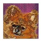 Long Haired Chihuahua Art Tile