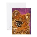 Long Haired Chihuahua Greeting Cards (Pk of 10