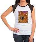 Long Haired Chihuahua Women's Cap Sleeve T-Shirt