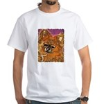 Long Haired Chihuahua White T-Shirt