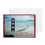 San Francisco Christmas Greeting Cards (Pk of 10)