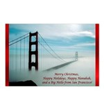 San Francisco Christmas Postcards (Package of 8)