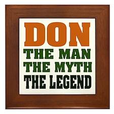 DON - The Legend Framed Tile