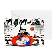 Witch Pumpkin Greeting Card