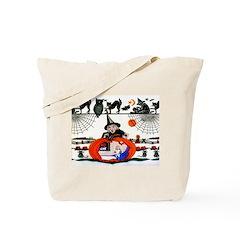 Witch Pumpkin Tote Bag