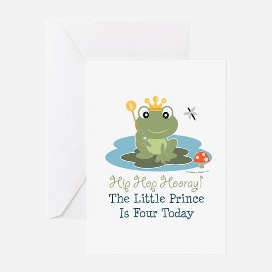 Frog Prince 4th Birthday Greeting Card