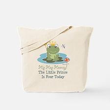 Frog Prince 4th Birthday Tote Bag