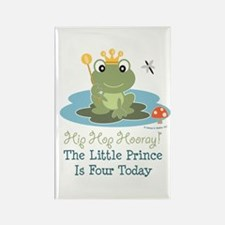 Frog Prince 4th Birthday Rectangle Magnet