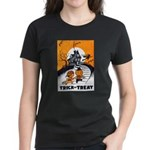 Vintage Trick or Treat Image Women's Dark T-Shirt